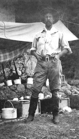 Na Foto: O Coronel Percy Fawcett em 1906 na Bolívia.
