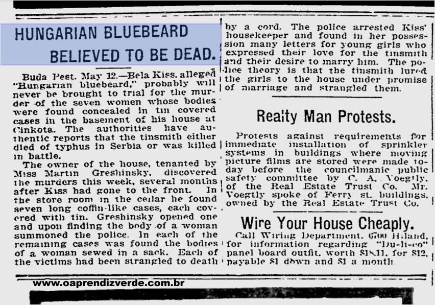 Serial Killers - Bela Kiss - Pittsburgh Post-Gazette
