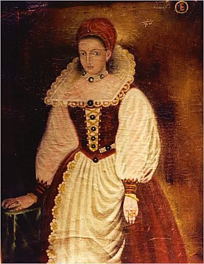 Na foto: A única imagem da condessa Erzsébet Báthory. O quadro acima foi pintado no ano de 1585, quando Báthory tinha 25 anos. Ele desapareceu do Museu de Cachtice na década de 1990.