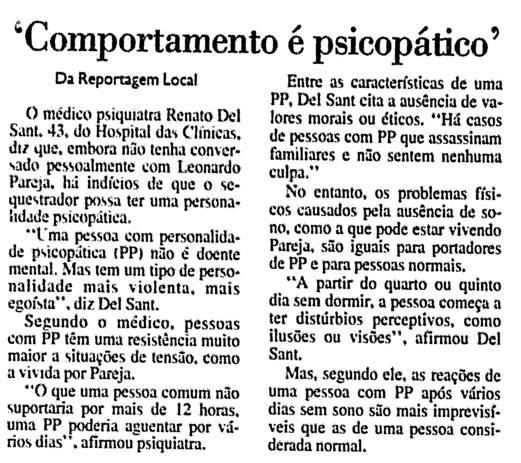 Reportagem da Folha de São Paulo sobre Leonardo Pareja.
