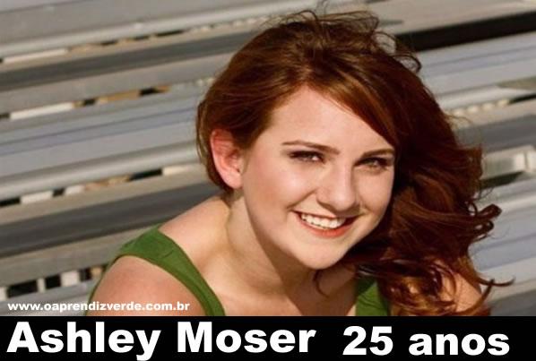 Ashley Moser, 25 anos. Ashley foi uma das 58 feridas no ataque. Ela foi baleada e ficou paraplégica. Sua filha,
