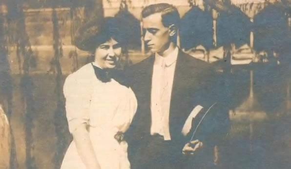 Na Foto: Leo Frank e sua esposa.