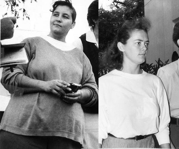 Na Foto: A namorada de TraceyTracy, Lisa Ptaschinski (à esquerda) e a cúmplise Tracy Anne Waugh (à direita).