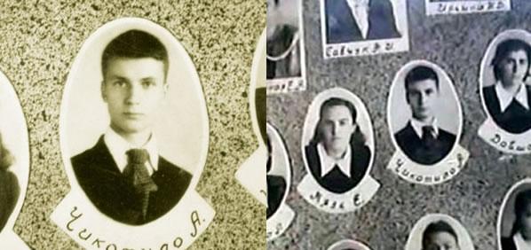 Na Foto: O jovem Andrei Chikatilo em foto do livro do colégio.