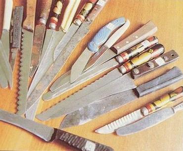 Na Foto: As facas apreendidas na casa de Andrei Romanovich Chikatilo em 1990. Objetos estão disponíveis no Museu do Crime em Rostov-on-Don.