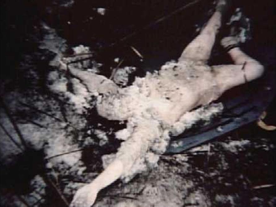 Na Foto: O corpo de Svetlana Korostik, 22 anos.