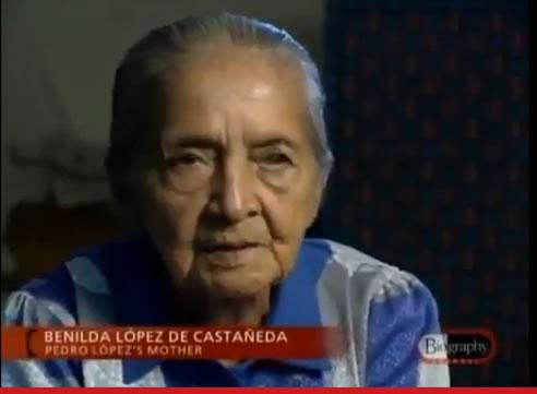Na Foto: Benilda Lopez, mãe do Monstro dos Andes. Créditos: Documentário Biography Channel.