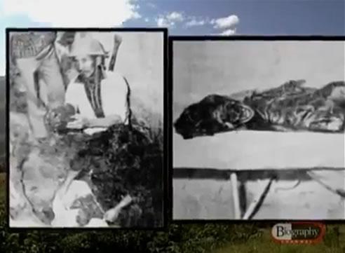 Na Foto: Restos mortais de duas vítimas de Pedro Alonso Lopez. Créditos: Documentário Biography Channel.