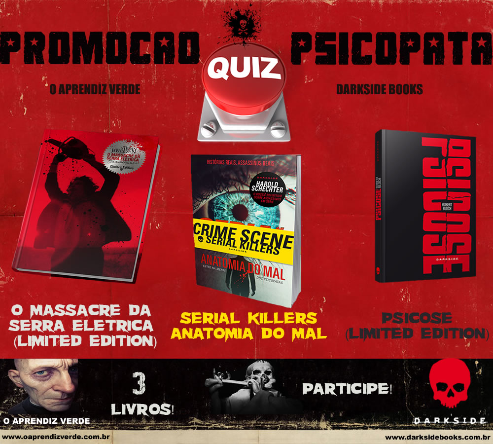 Promoção Quiz Psicopata - O Aprendiz Verde & DarkSide Books