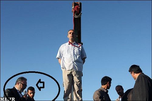 O enforcamento público do serial killer Mehdi Faraji