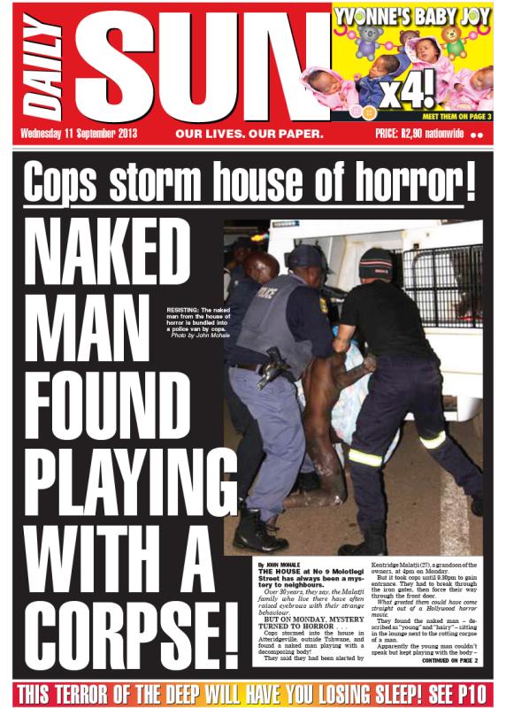 Notorios e Horripilantes Crimes de 2013 - Daily Sun