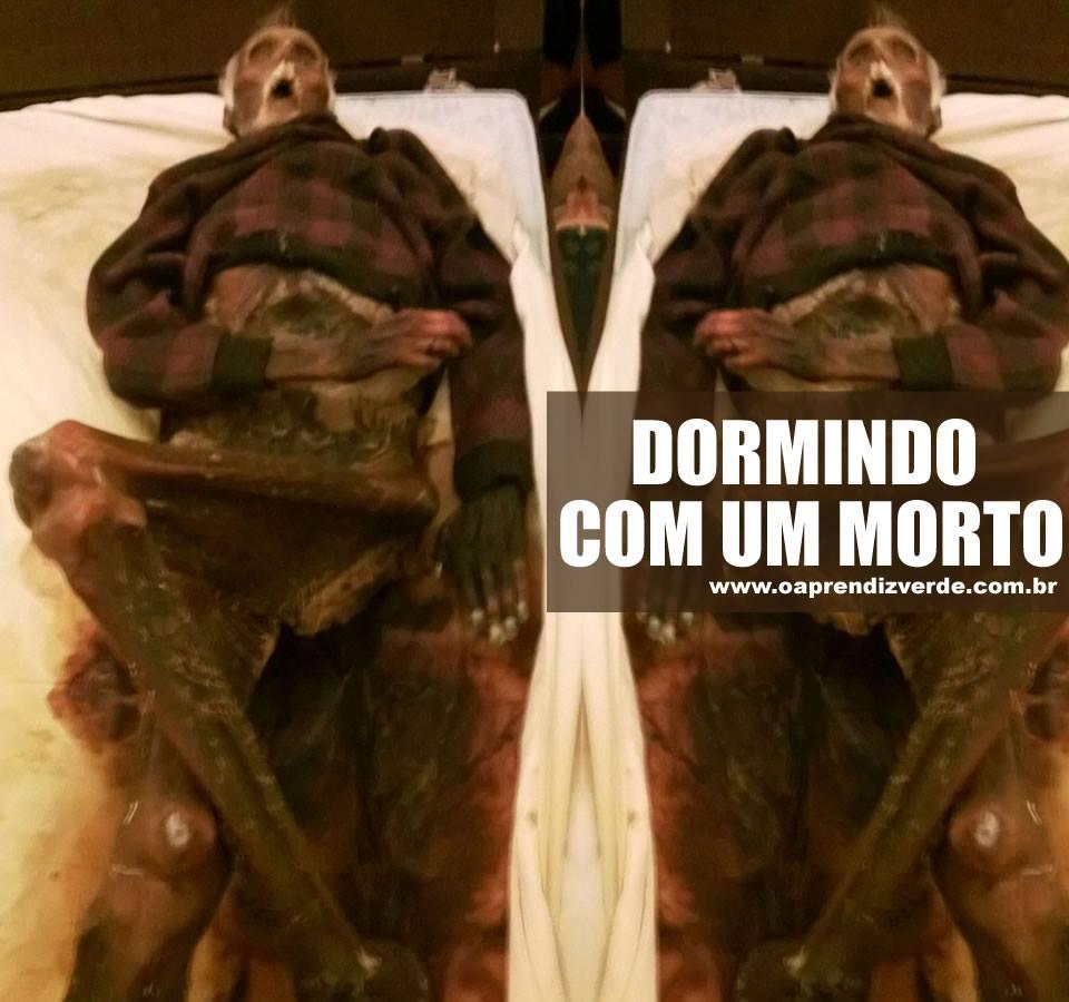 Dormindo com um morto - Capa