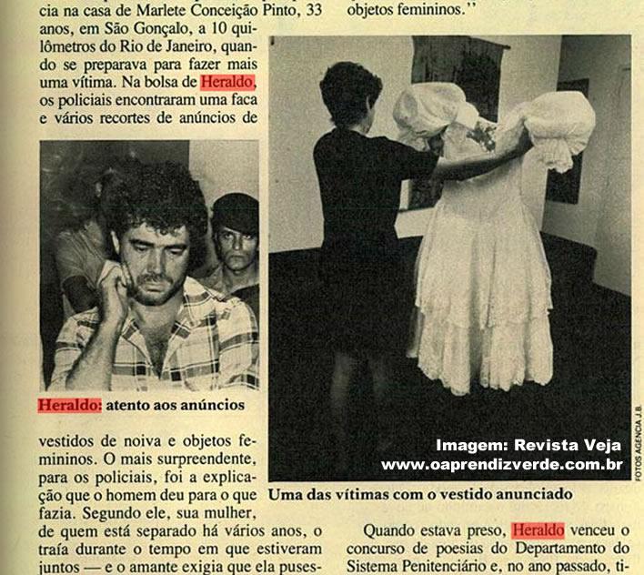 Reportagem Retro O Maníaco do Vestido de Noiva - Veja