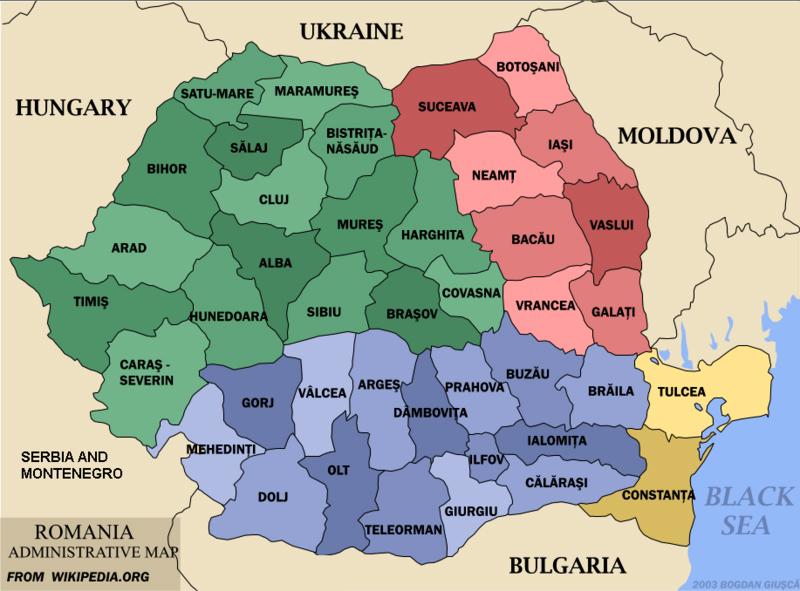 A Verdadeira Historia de Dracula - Divisão administrativa da Romênia do século XV