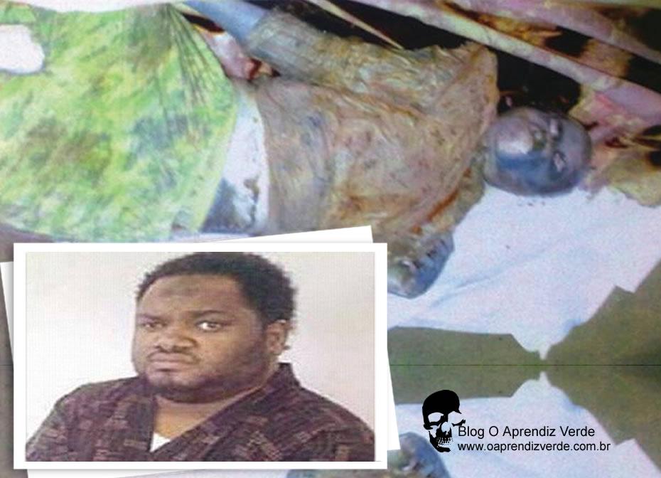 Na foto: O serial killer Awdah Salim e uma de suas vítimas. Créditos: Alhayat.