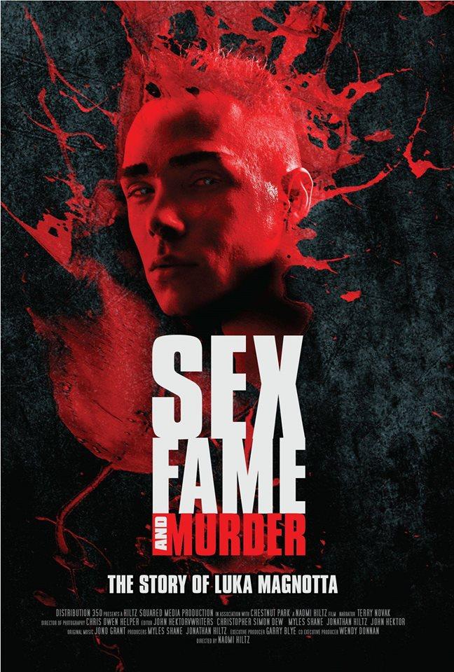 """Na foto: Poster do documentário """"Luka Magnotta – Sex, fame and murder"""". Divulgação."""