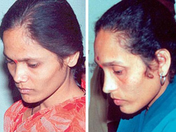 Na foto: As irmãs Seema Mohan Gavit e Renuka Kiran Shinde, de Maharashtra. Elas estão prestes a serem executadas na Índia. Ambas sequestravam crianças, usando-as para roubar pessoas nas ruas. Quando elas davam muitos problemas, eram assassinadas. Créditos: Handout.