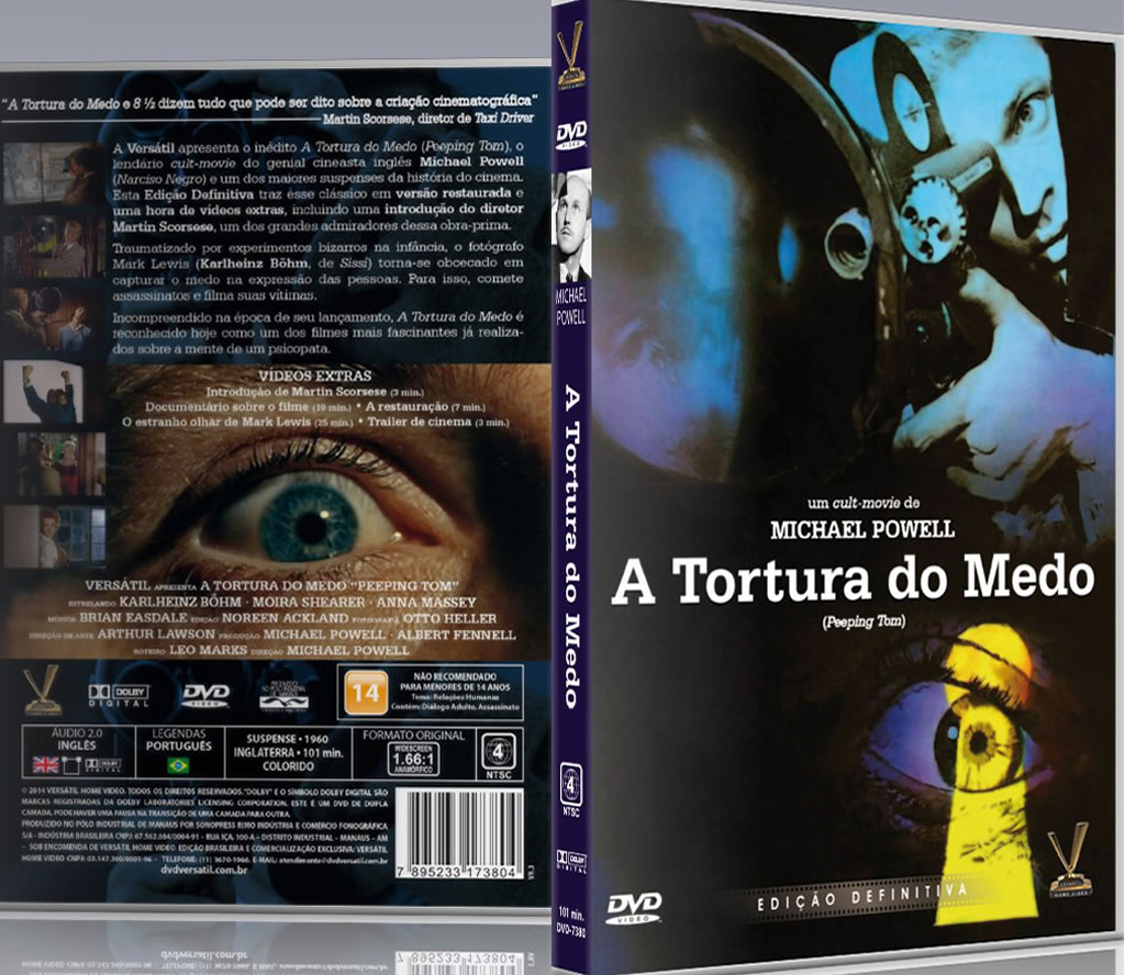 DVD A Tortura do Medo (Peeping Tom). Foto: