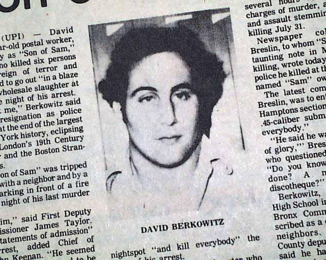David Berkowitz - Jornal