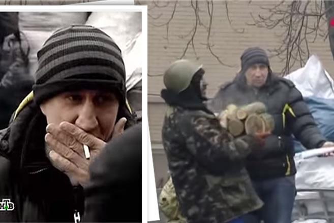 Na foto: Yuri Chikatilo, filho do serial killer Andrei Chikatilo, na praça de Maidan, em Kiev, palco sangrento da crise Ucrânia-Rússia. Créditos: HTB.