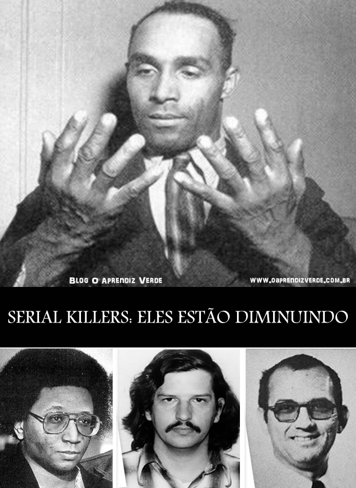 Na foto: Os serial killers Jarvis Catoe, Wayne Williams, William Bonin e Patrick Kearney.