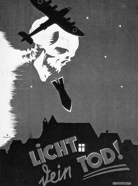 "Na foto: Poster Nazista adverte os moradores de Berlim: ""Luz Significa Sua Morte!"". Créditos: A Serial Killer In Nazi Berlin."