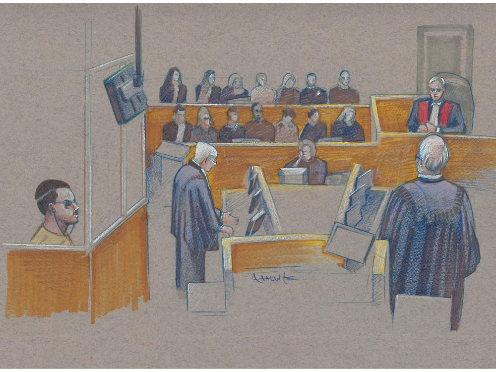 Desenho do julgamento de Luka Magnotta