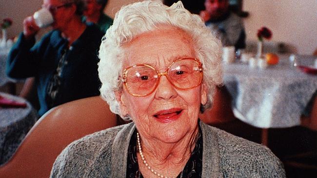 Na foto: Kathleen Downes, 95, foi horrivelmente morta em Brunswick. Suspeita-se que ela foi morta pelo serial killer Peter Dupas. Créditos: Herald Sun.