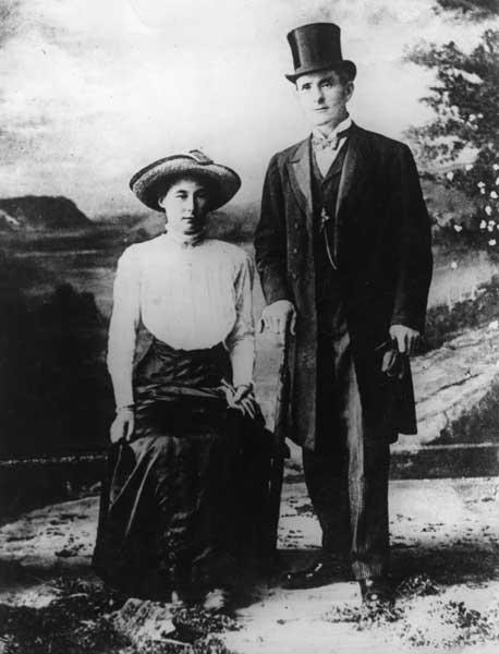 Na foto - Bessie Mundy e o serial killer George Joseph Smith. Créditos: Murderpedia