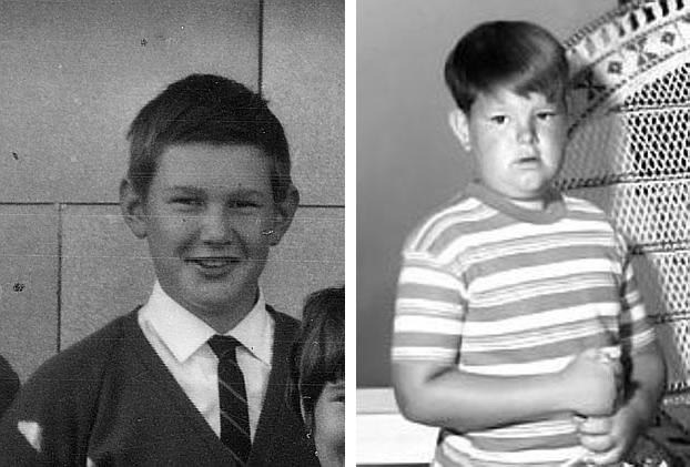 """Na foto: À esquerda Peter Dupas em uma foto de escola. À direita o ator Ken Weatherwax como Pugsley, de """"A Família Addams."""" Créditos: Herald Sun."""