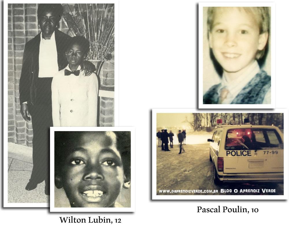 Na foto: Wilton Lubin e Pascal Poulin.