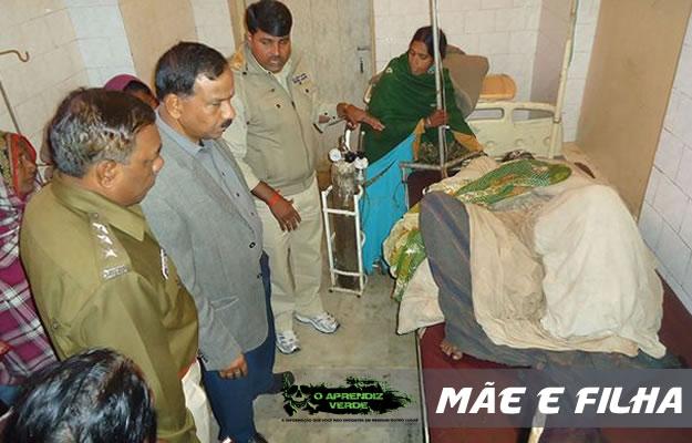 A jovem Annu Devi morta numa cama de hospital. Foto: Sanjay Pandey.