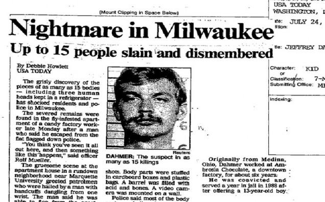 Arquivos do FBI - Dahmer