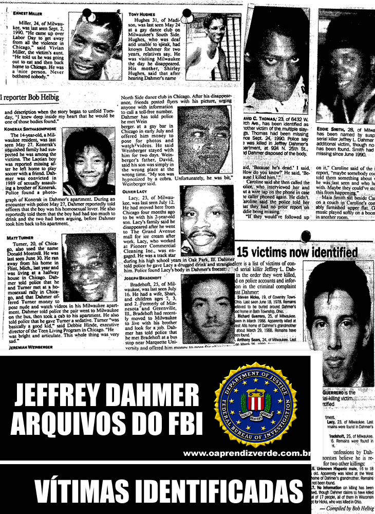 Jeffrey Dahmer Arquivos do FBI - Vitimas Identificadas