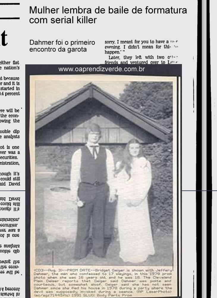 Reportagem Retro - Jeffrey Dahmer e Bridget Geiger - Capa