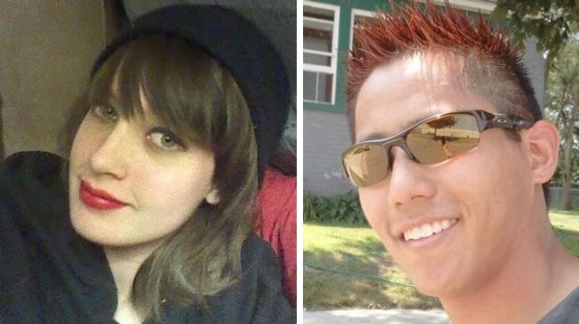 O casal Brooke Slocum e Charles Oppenneer. Em 16 de Julho, Charles foi encontrado decapitado num parque de Wyoming, Michigan. Foto: Reprodução Internet.