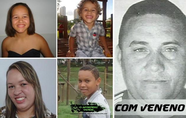 Raimundo Ailon de Sousa Lemos e sua família. Foto: O Popular.