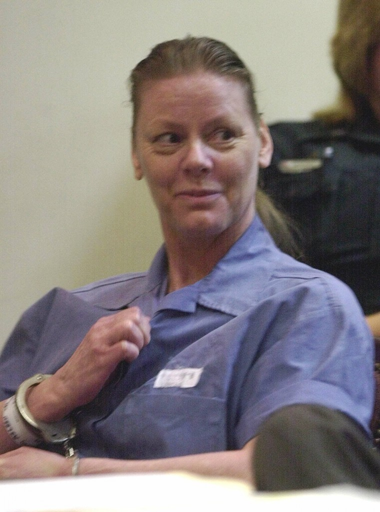 A serial killer Aileen Wuornos em 2001. Foto: Associated Press/Peter Cosgrove.