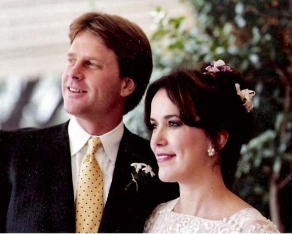 Alan Rehrig e Sandra Bridewell, em foto de casamento em Dezembro de 1984.