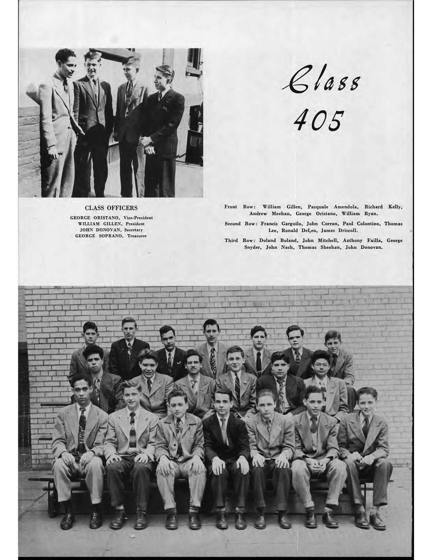 O jovem Ronald DeFeo (segunda fila, o segundo da direita para a esquerda) na foto do ano do colegial. Foto: Photobucket.