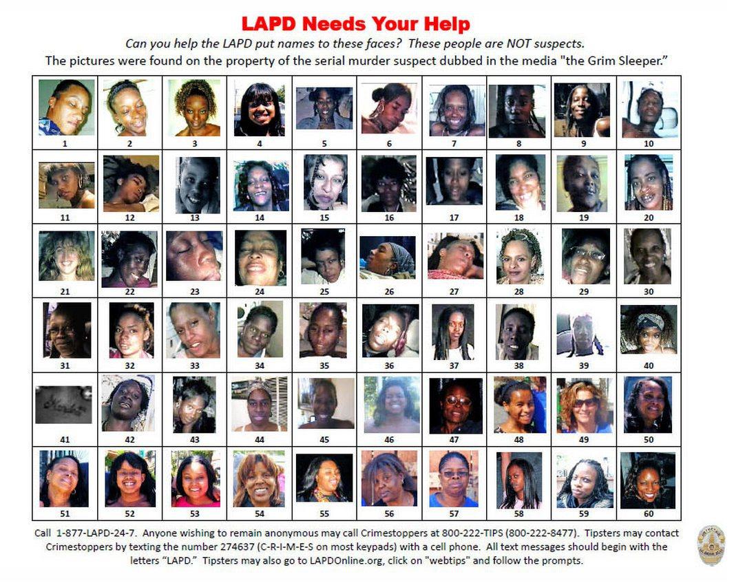 Algumas das fotos encontradas na casa de Franklin mostra mulheres aparentemente mortas. Foto: LA Times.