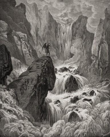 """Ilustração de Gustave Dore (1832-1883) para """"Paradise Lost"""", de John Milton. Foto: © Ken Welsh/*/Design Pics/Corbis."""