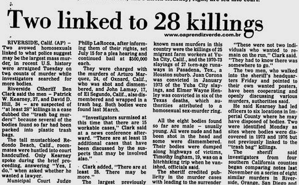 Reportagem da Associated Press de 5 de Julho de 1977.