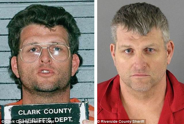 esperson, fotografado em 1995 (esquerda) e em 2009 (direita), atualmente cumpre três penas de prisão perpétua pelos assassinatos de oito mulheres.