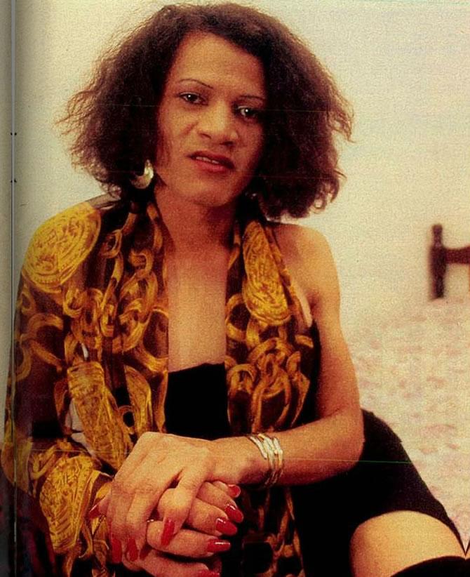 A travesti Thayná. Foto: Revista Veja.