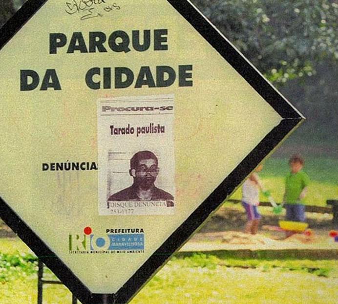 """Cartaz de """"Procura-se"""" no Rio de Janeiro. Foto: Revista Veja."""