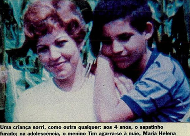 Maniaco do Parque e sua mãe, Maria Helena. Foto- Revista Veja