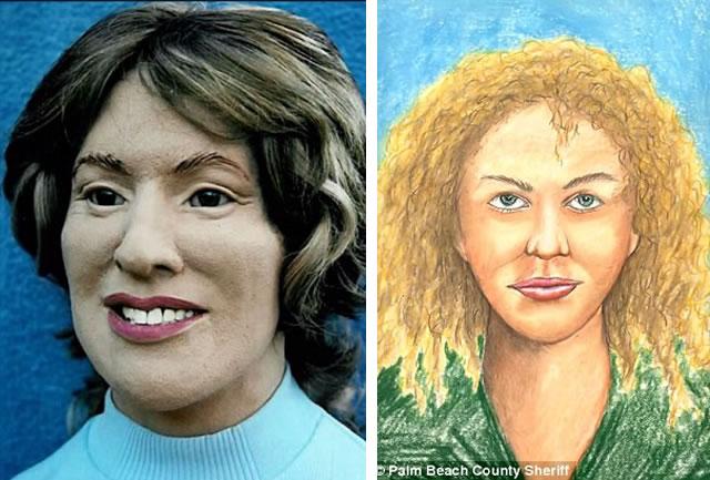 Quando a polícia mostrou a reconstituição feita em 1995 para Jesperson, ele disse que não se parecia em nada com a mulher que ele matou. Ele, então, concordou em fazer um desenho dela ano passado (imagem a direita), o que ajudou na nova reconstituição.