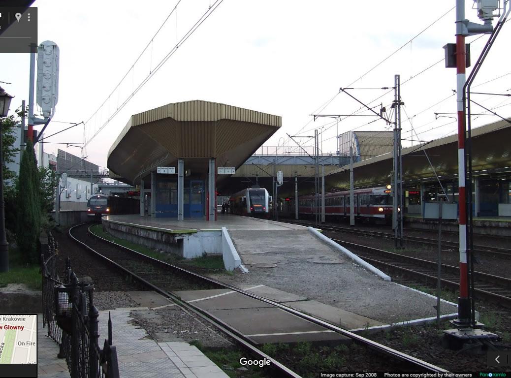 A estação ferroviária de Krákow. Foto: Google.