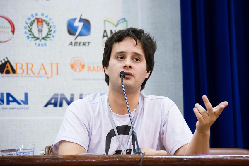 Valério Luiz Filho no 6º Forum Liberdade de Imprensa e Democracia. Foto: apublica.org.